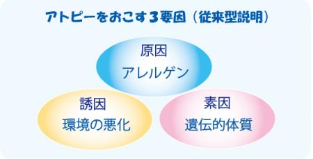 アトピー性皮膚炎の3要素